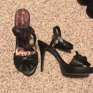Gianni Bini size 9 black heels